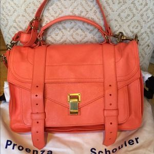 Proenza Schouler Medium PS1 Satchel Grapefruit NWT