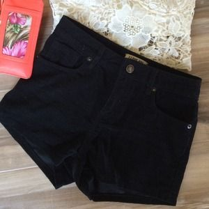 Black high waisted shorts from Forever 21