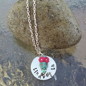 Jewelry - Handmade Personalized Sugar Skull Necklace