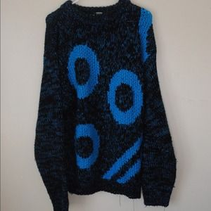 Sweaters - BLUE SHAPES OVERSIZED SWEATER