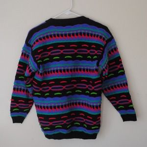 Sweaters - FUNKY BUTTON UP SWEATER