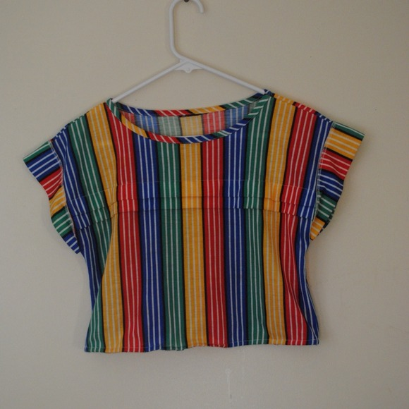 Tops - RAINBOW CROP TOP