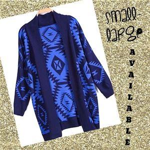 Outerwear - Blue cardigan