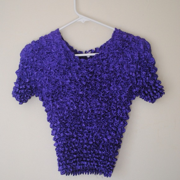 Tops - PURPLE POPCORN TOP