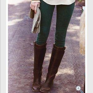 Hunter green skinny jeans