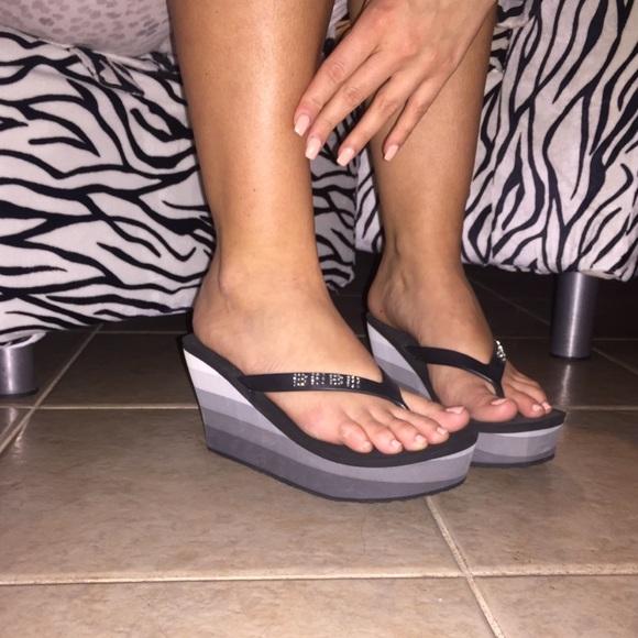b1cbffdf99b8c bebe Shoes - Bebe sport Wedges flip flops