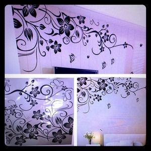 Other - Vinyl Wall Sticker Mural Decal-Flower and Vines!