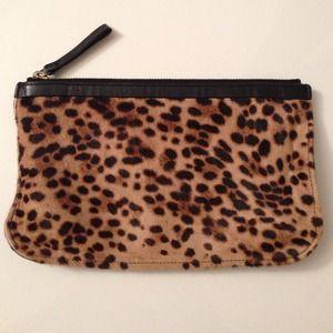 Pierre Hardy Handbags - Pierre Hardy cheetah print zipper pouch