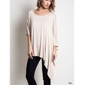 "Bare Anthology Tops - ""Drama Queen"" Asymmetrical Hem Top"