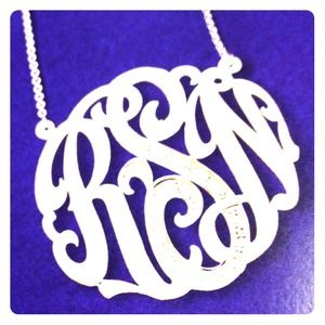 Jewelry - Sterling silver monogram necklace