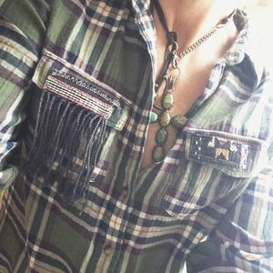 Altered Abercrombie & Fitch Flannel