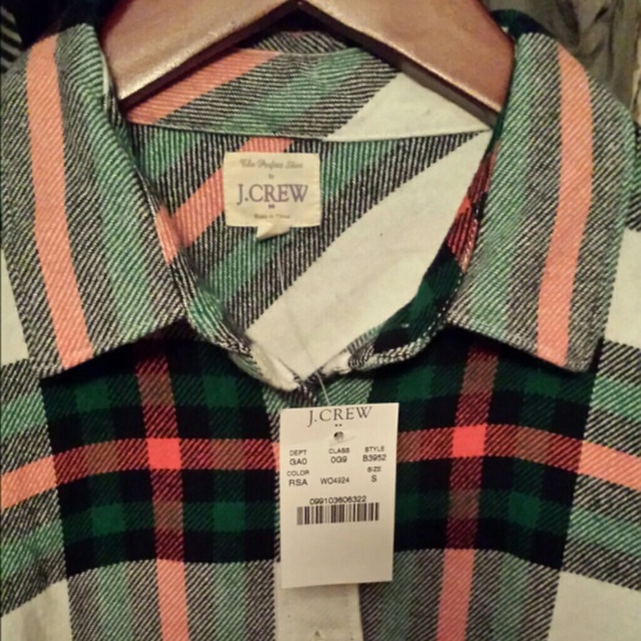 1e44fd83 J. Crew Tops | Sold J Crew Womens Flannel Button Down Shirt | Poshmark