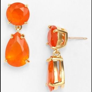 Jennifer Lopez Jewelry - Jennifer Lopez bright orange earrings.