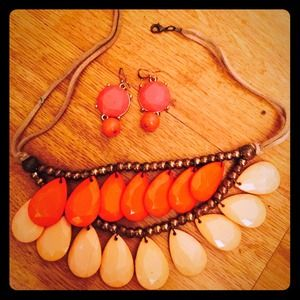 Jennifer Lopez Jewelry - Jennifer Lopez boho chic set, orange- 2 for $20.