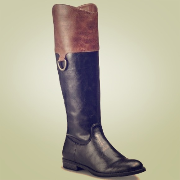55% off Merona Boots - Target Merona Karri riding boots brown ...