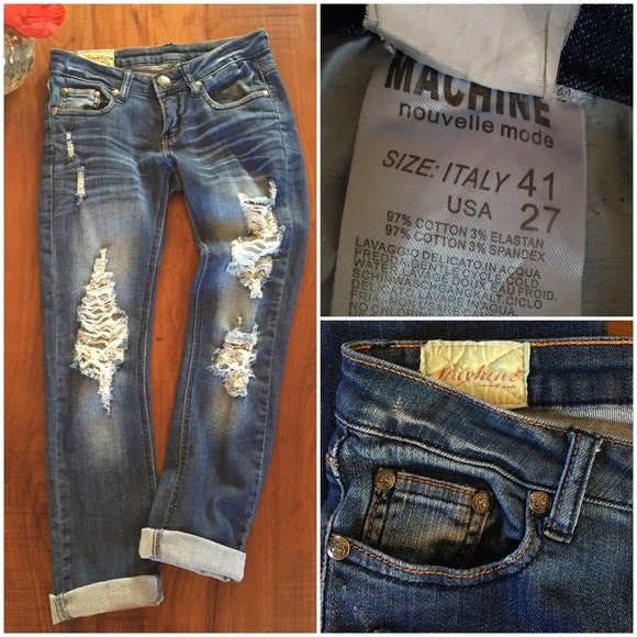 Machine Nouvelle Mode - Awesome Distressed Machine Jeans. Just Awesome. from ufe0f hemojemou0026#39;s closet ...