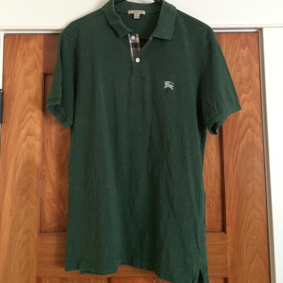 Men's Burberry Brit size L forest green polo shirt