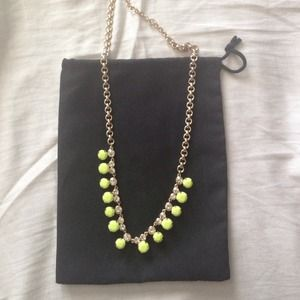 J.Crew neon yellow necklace