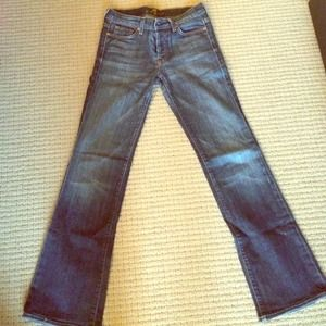 7 for all mankind boycut jeans, size 27