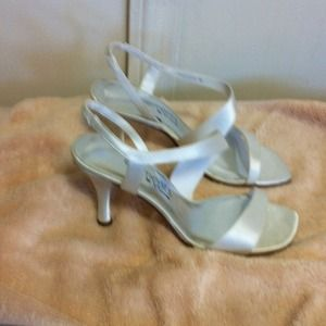 Elements by Nina Shoes - Ivory luster satin shoes