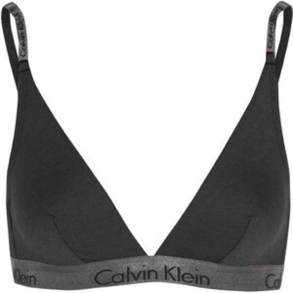 Calvin Klein Tops - Calvin Klein Dual Tone Silver Metallic Grey V Bra