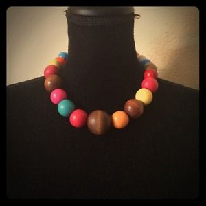 Multi colored bead necklace.