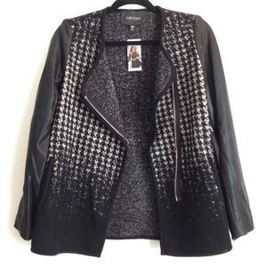 Black Ombré Check Houndstooth Jacket