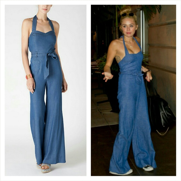 331dc3823 Kardashian Kollection Jeans | Denim Flare Jumpsuit | Poshmark
