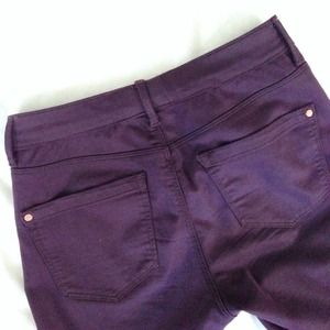 Topshop Pants - Topshop Purple Moto Leigh jeans