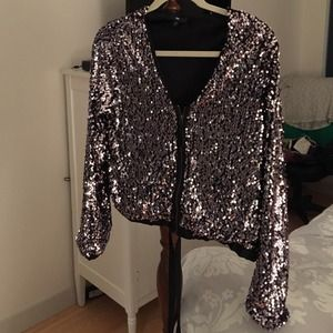 GAP Jackets & Blazers - **Reduced** GAP Full Sequin Jacket