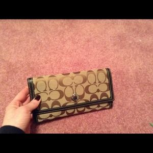 Autnethic Coach trifold wallet used