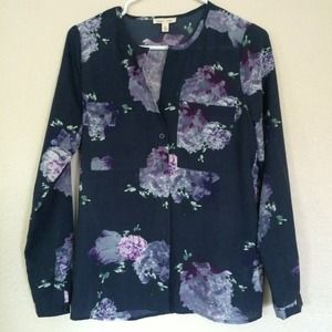URBAN OUTFITTERS SILENCE + NOISE FLORAL BLOUSE