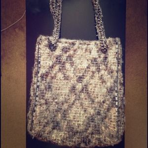 RARE Zara tweed bag wool tote