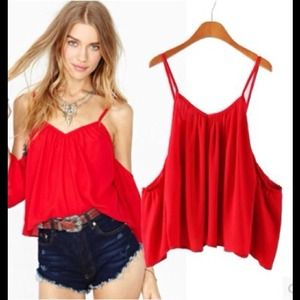 { NWOT } The Bold Ruby Sweetheart Off Shoulder Top