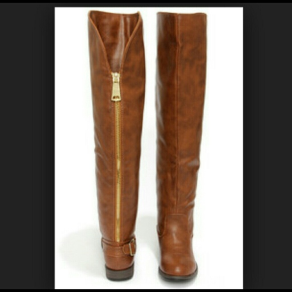 dec80c718d7 Bamboo Boots - Chesnut knee high boots Bamboo montana Size 9