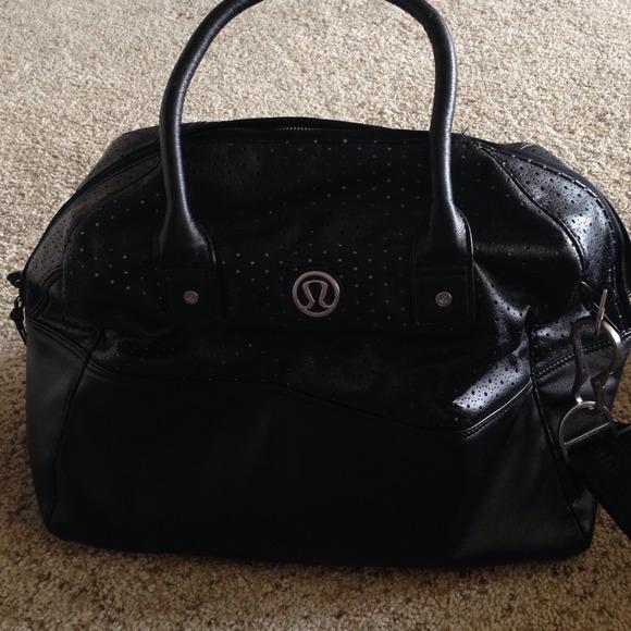 4385cca4d32 lululemon athletica Handbags - Lululemon leather gym bag black in great  conditio