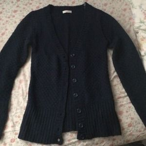 Delia's navy blue knit cardigan