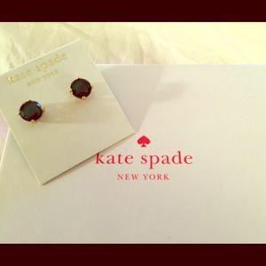 Kate spade Emerald color 14k gold filled earrings