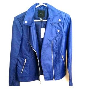 Royal blue moto jacket