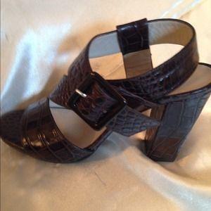 Robert Clergerie of Paris Aligator Sandals