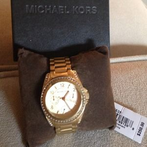 Michael kors blair glitz gold tone watch