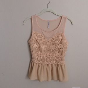 Nude summer top