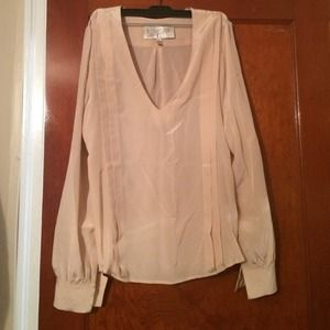 100% silk blush blouse