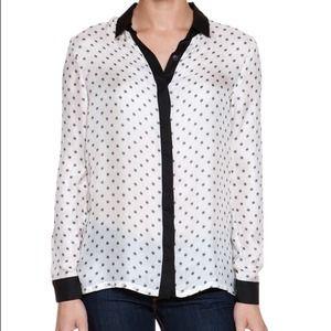 Three Dots Tops - NWT Three Dots Silk Blouse
