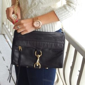 Rebecca minkoff MAC black and gold