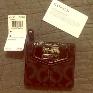 NWT Coach PopArt Slim Small Wallet in black