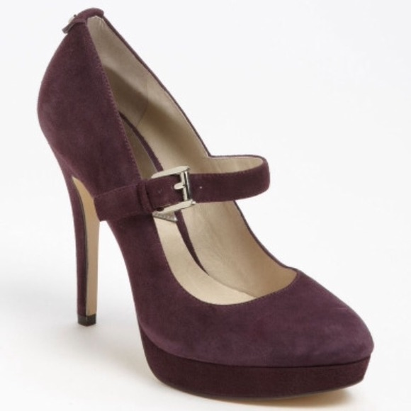69324b88d374 💜Micheal Kors Purple Suede Mary Jane Pumps💜