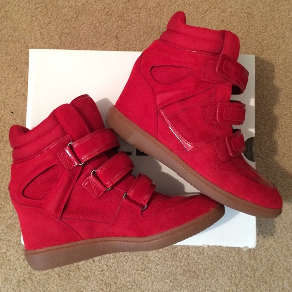 ff7fbce6f0f0 Aldo shoes red wedge sneakers poshmark jpg 580x580 Aldo red wedge sneakers