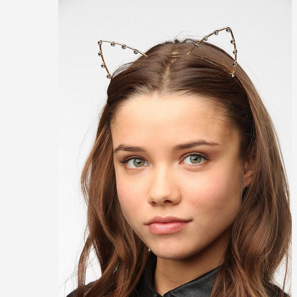 Rhinestone Cat Ears Headband Forever
