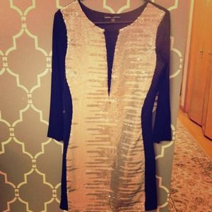 Beautiful silver sequins dress